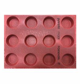 Pavoni Pavoni - Pavoflex silicone mold, Formasil, 65mm (12 cavity), FF4308