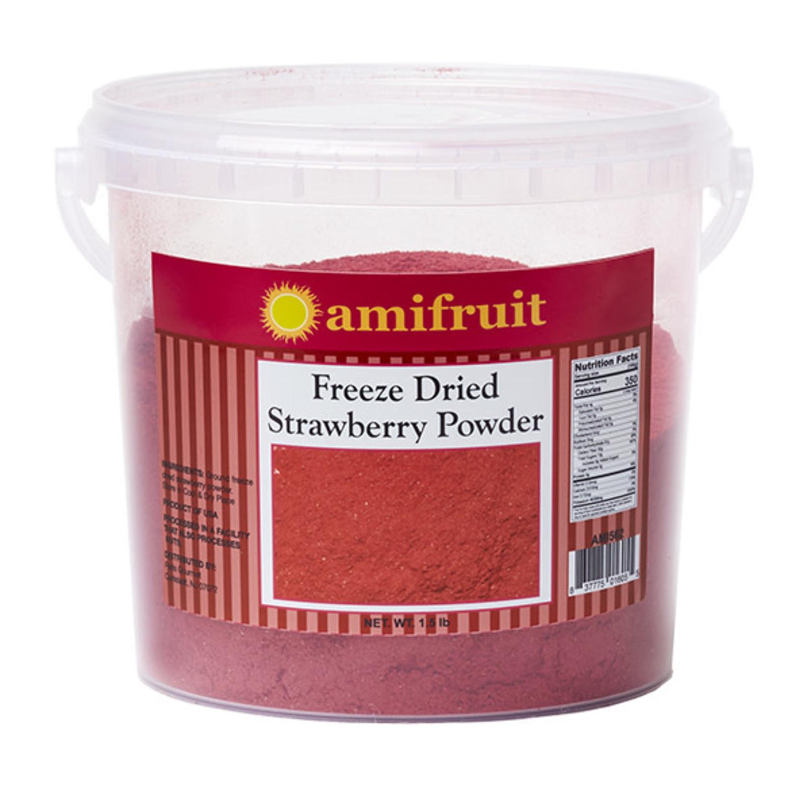 Amifruit Amifruit - Freeze dried Strawberry Powder - 1.5lb, AMI562