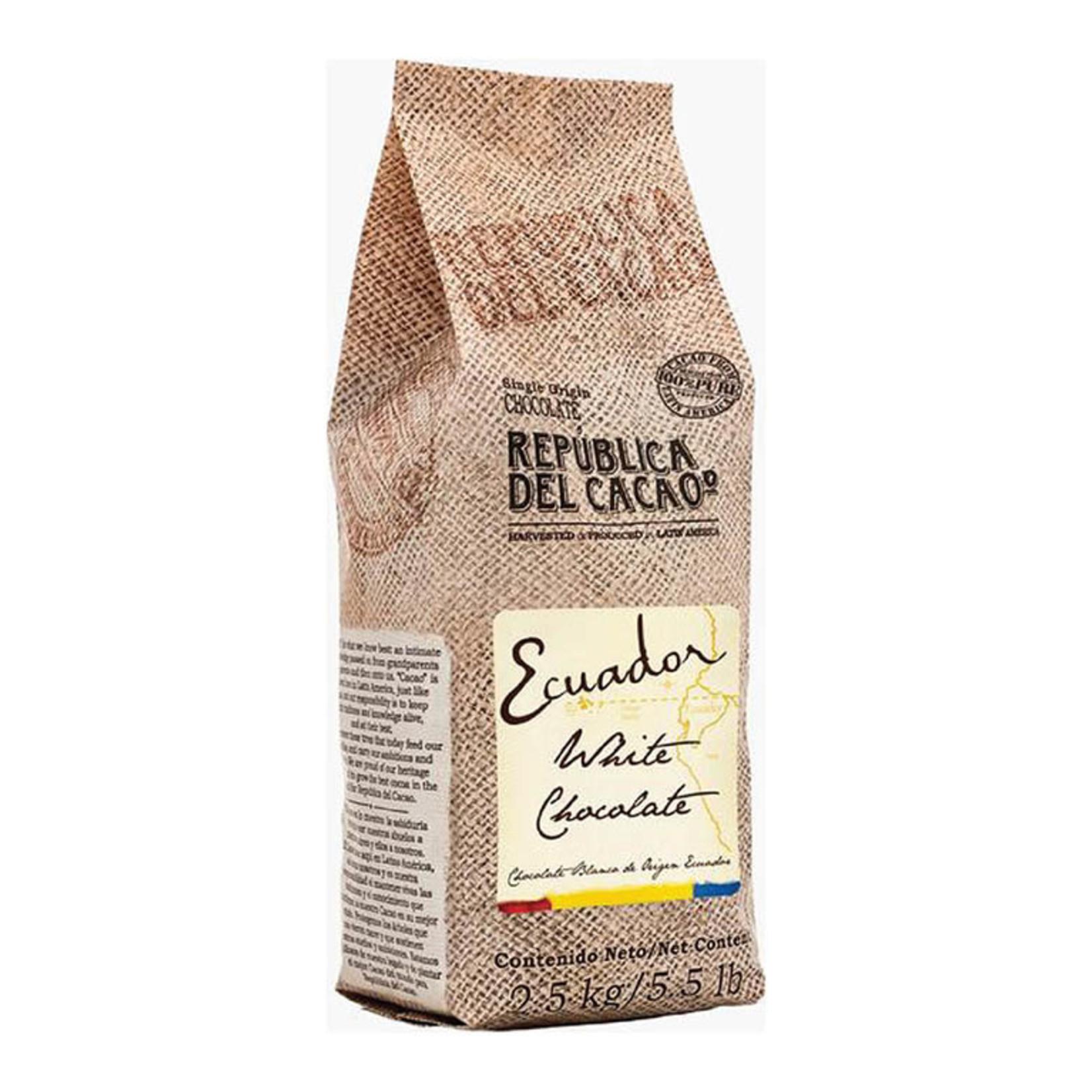 Republica del Cacao Republica del Cacao - Ecuador White Chocolate 31% - 5.5lb, 18843