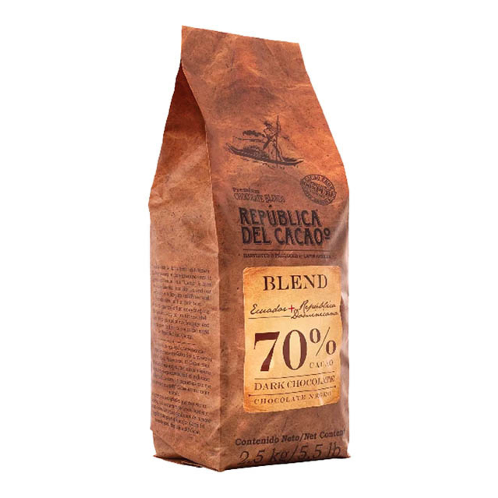 Republica del Cacao Republica de Cacao - Ecuador Blend Dark 70% Couverture - 5.5lb, 18836