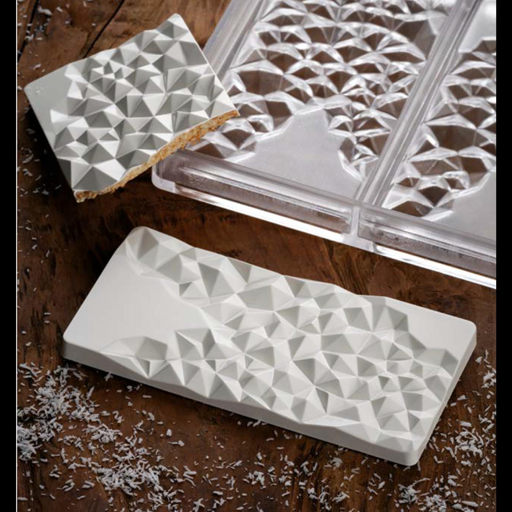 Pavoni Pavoni - Polycarbonate Chocolate Mold, Bar - Fragment, PC5004 (3 cavity)