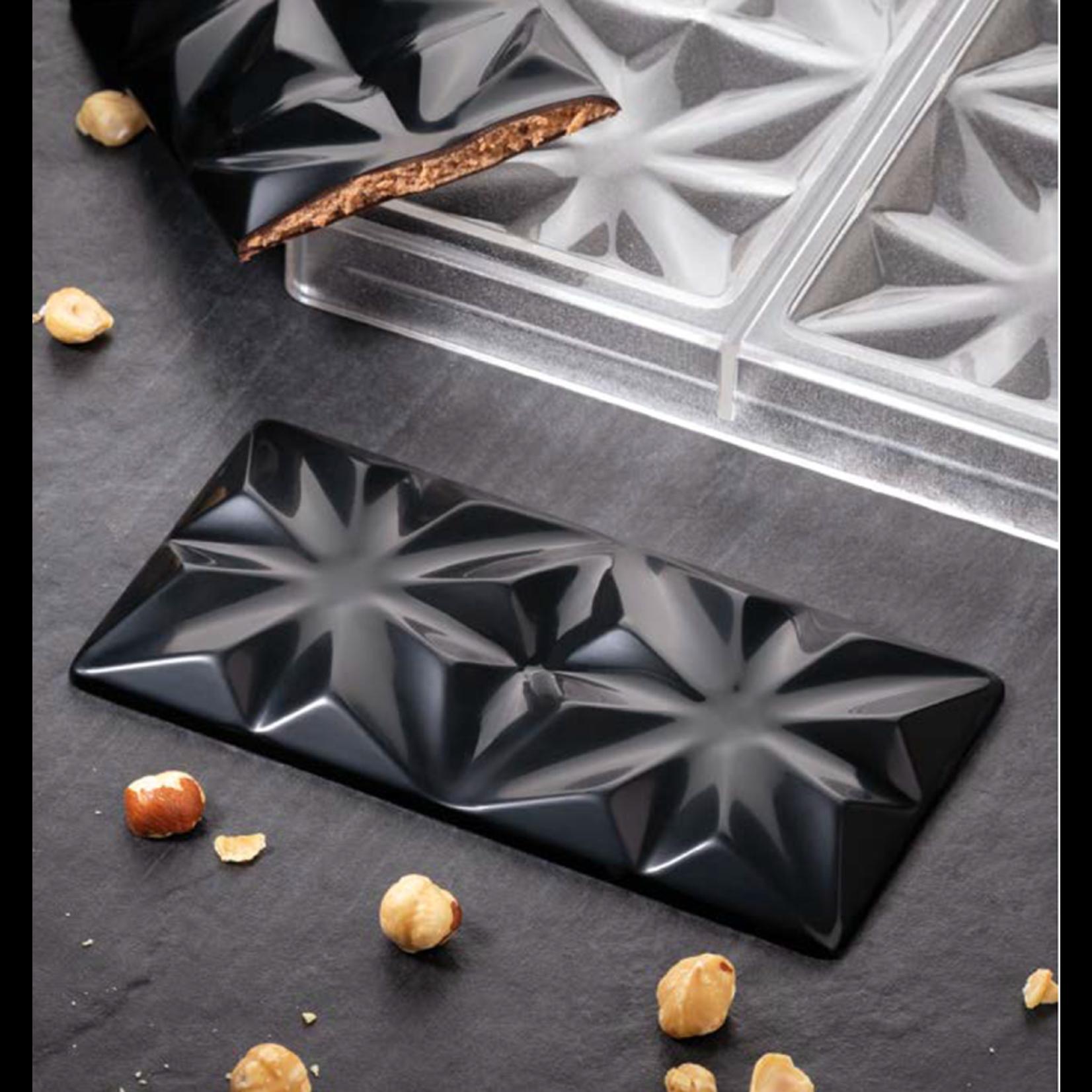 Pavoni Pavoni - Polycarbonate Chocolate Mold, Bar - Edelweiss, PC5005 (3 cavity)