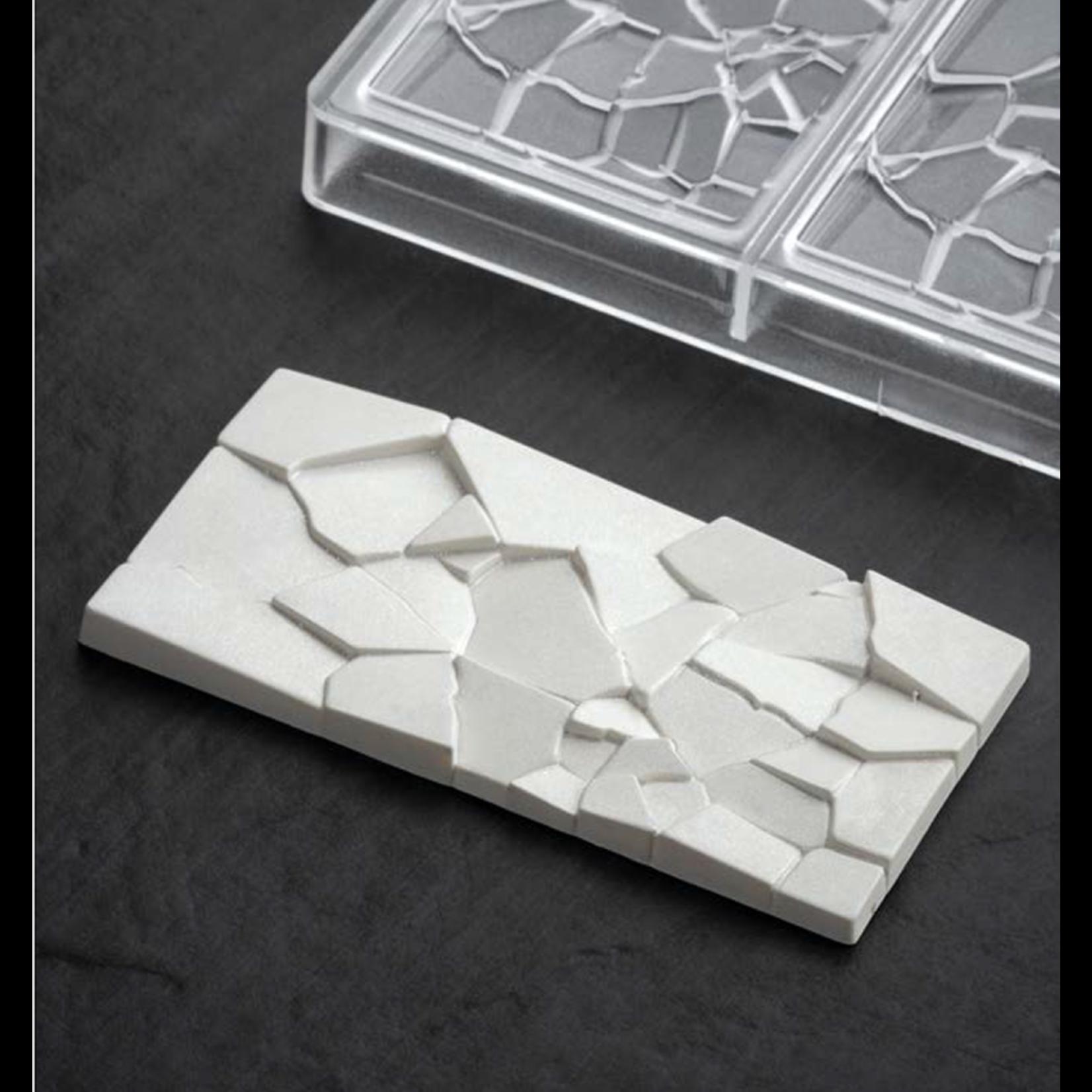 Pavoni Pavoni - Polycarbonate Chocolate Mold, Bar - Crush, PC5002 (3 cavity)