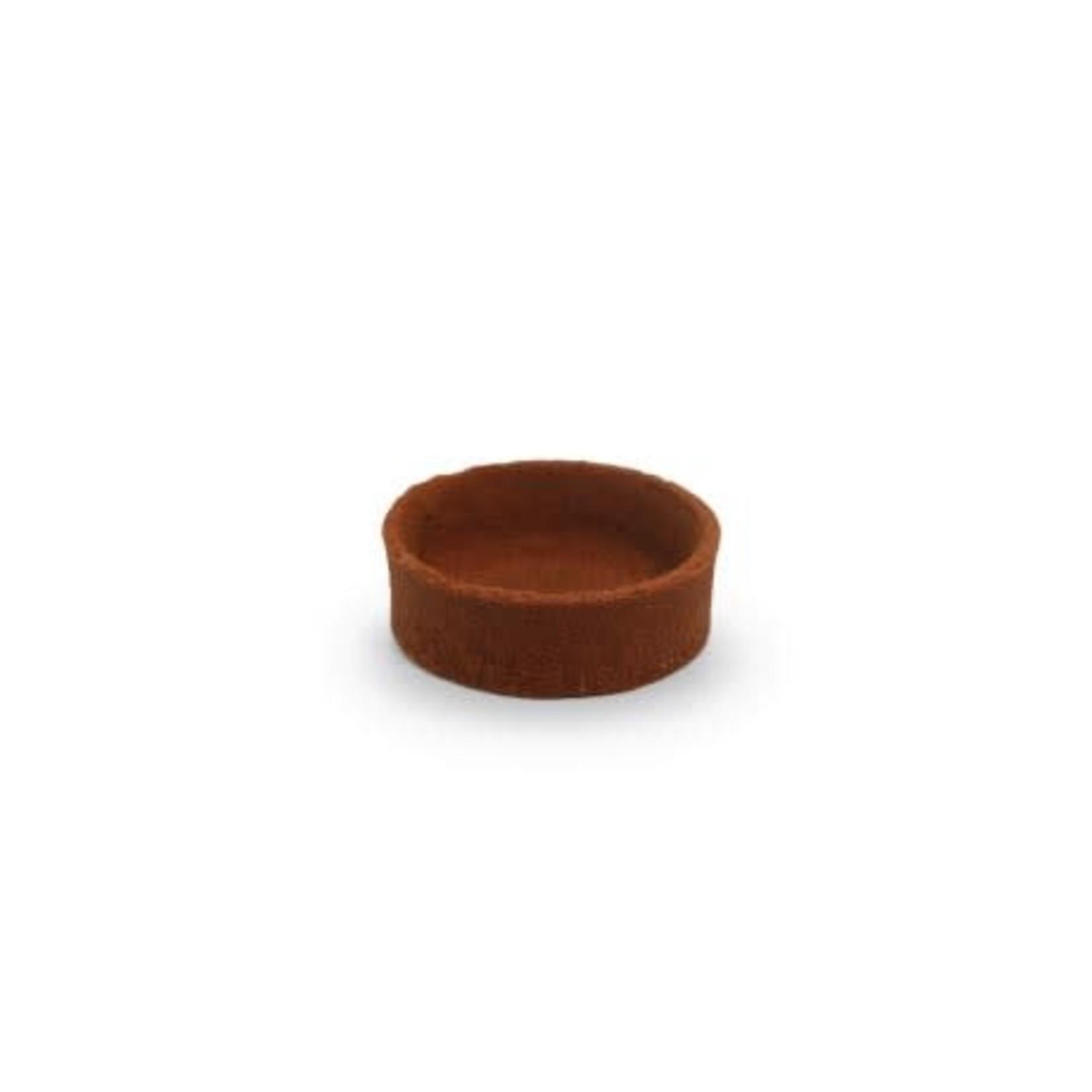 Pidy Pidy - Tart shell, Vegan Chocolate round - 2'' (96ct), 305.42.096US