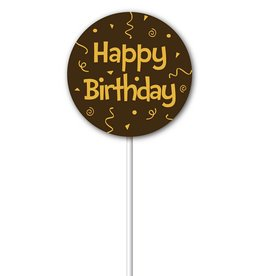 Chocobutter Chocobutter - Lollipop transfers - Happy Birthday (20 sheets)