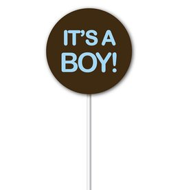 Chocobutter Chocobutter - Lollipop transfers - It's a Boy (20 sheets)