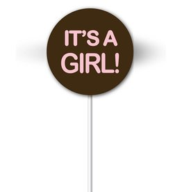 Chocobutter Chocobutter - Cocoa butter transfer - Lollipop, It's a Girl (20 sheets)