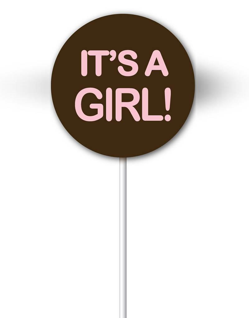 Chocobutter Chocobutter - Lollipop transfers - It's a Girl (20 sheets)