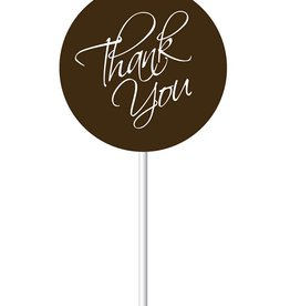 Chocobutter Chocobutter - Cocoa butter transfer - Lollipop, Thank You (20 sheets)