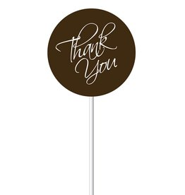 Chocobutter Chocobutter - Lollipop transfers - Thank You (20 sheets)