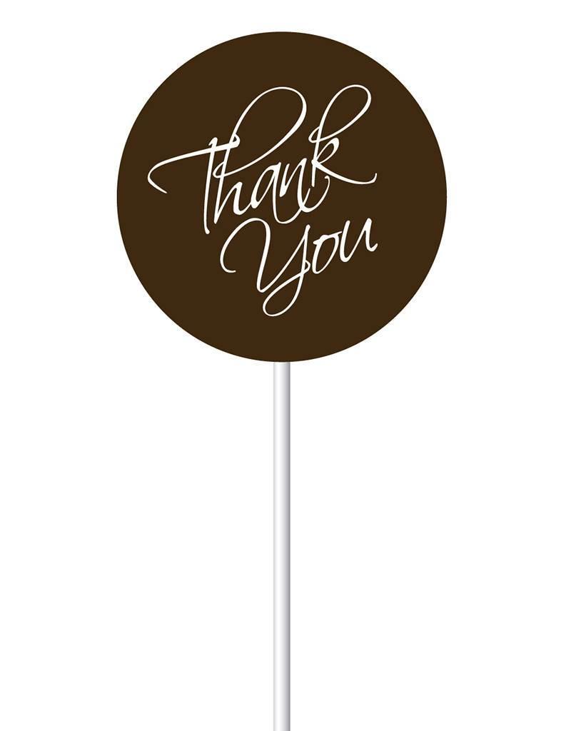 Chocobutter Chocobutter - Lollipop transfers - Thank You (20 sheets)