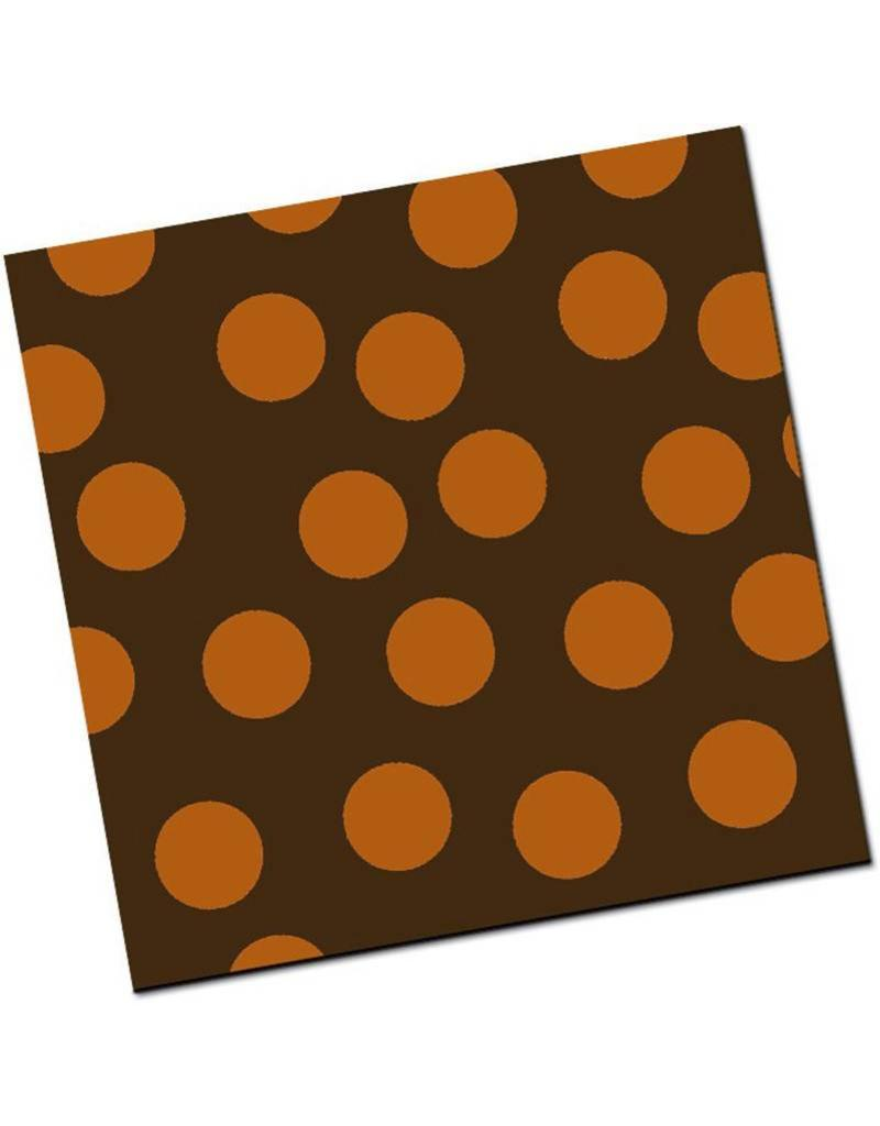Chocobutter Chocobutter - Cocoa butter transfer, Large Polka Dots, Copper (10 sheets)