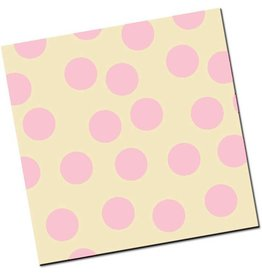 Chocobutter Chocobutter Transfers - Large Polka Dots, Rose (10 sheets)