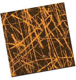 Chocobutter Chocobutter - Cocoa butter transfer, Chalk Lines, Orange (10 sheets)