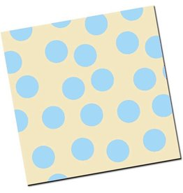 Chocobutter Chocobutter Transfers - Large Polka Dots, Sky (10 sheets)
