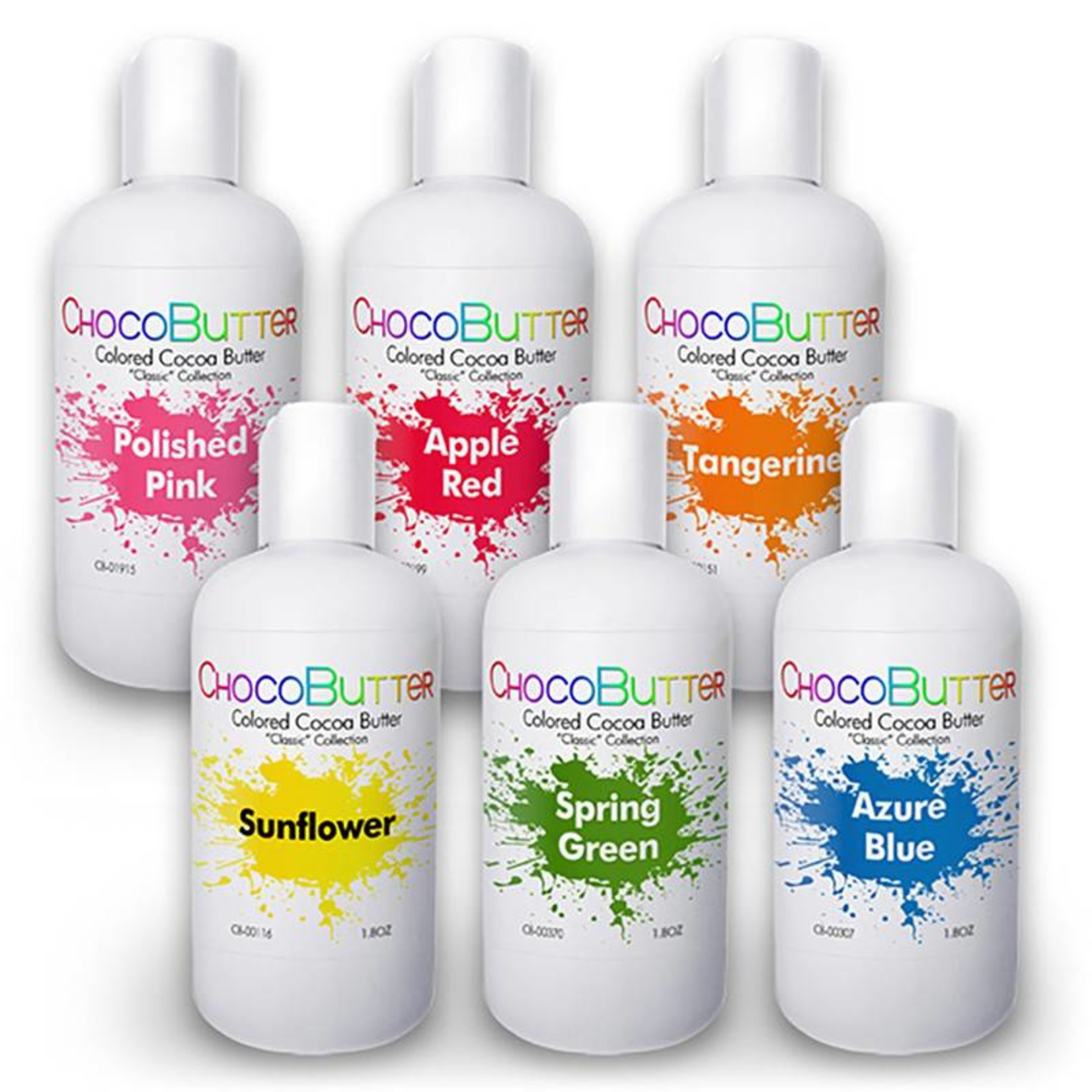 Chocobutter Chocobutter - Classic Starter Cocoa butter Kit- 6 colors - 1.8oz