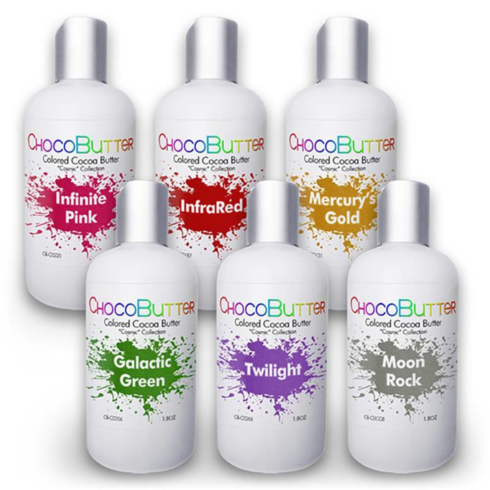 Chocobutter Chocobutter - Cosmic Starter Cocoa butter kit- 6 colors - 1.8oz