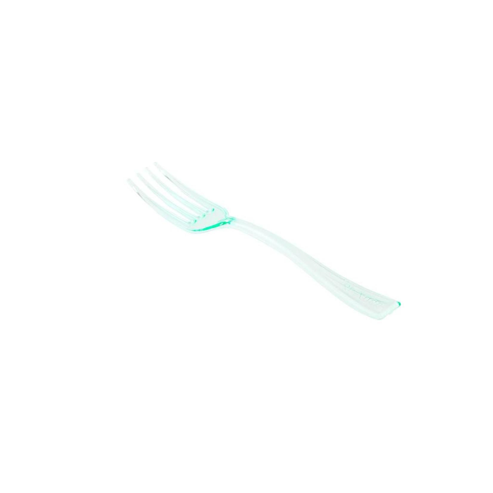 RestaurantWare Plasticware - Mini Fork, Green - 4'' (500ct), RWP0057G