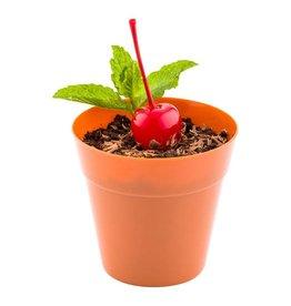 RestaurantWare Plasticware - Terracotta pot - 4oz (100ct), RWP0084T