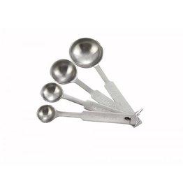 Winco Winco - Measuring Spoons: 1/4 tsp, 1/2 tsp, 1 tsp, 1 Tbl, MSPD-4X