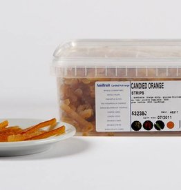 Amifruit Amifruit - Orange peel confit strips - 2.2lb, AMI625 *12*