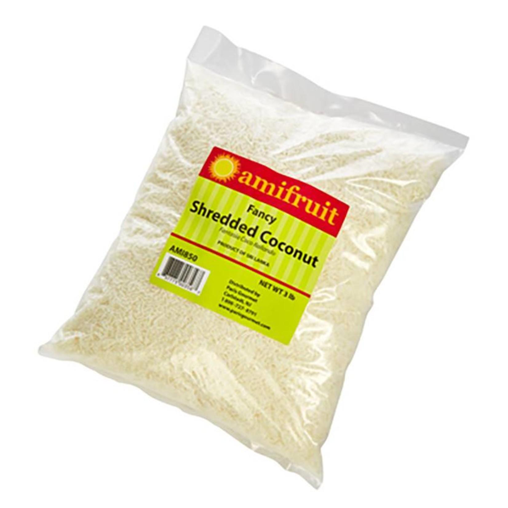 Amifruit Amifruit - Coconut fancy shredded, unsweet - 3lb, AMI850