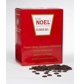 Cacao Noel Noel - Classic Dark Chocolate, 55% - 11 lb, NOE104 *4*