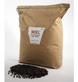 Cacao Noel Noel - Drops, Semi-sweet 50% - 22lb (1800ct), NOE205