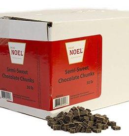Cacao Noel Noel - Semi-sweet Chocolate Chunks - 30lb, NOE210