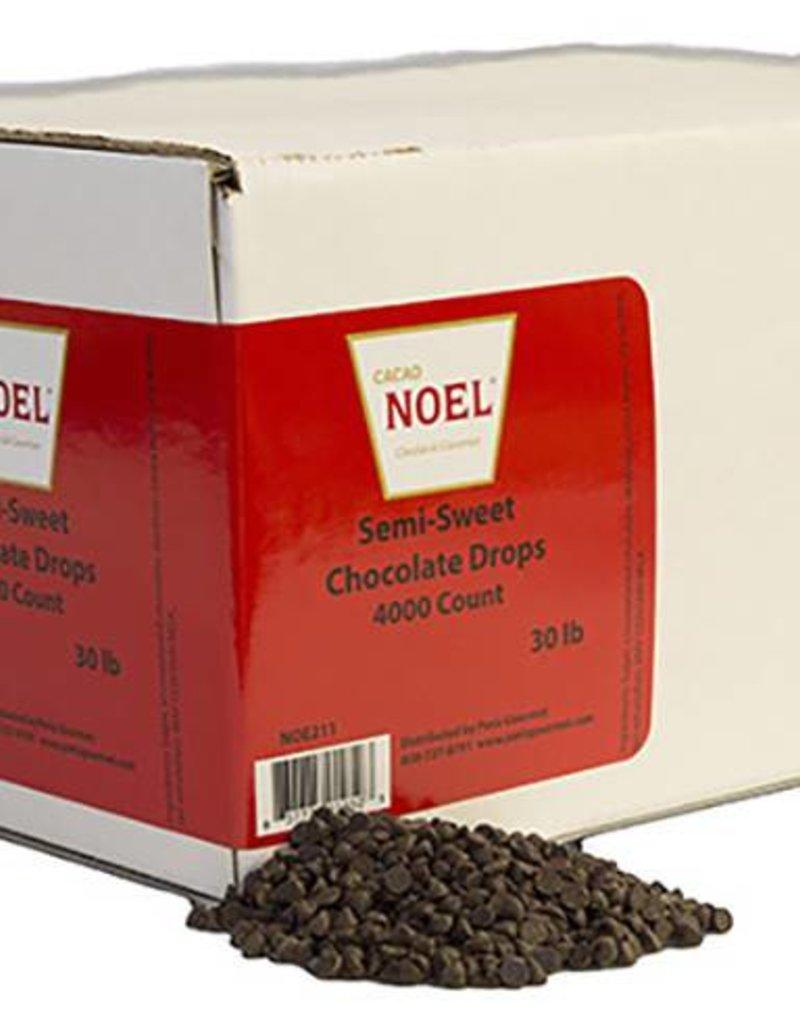 Cacao Noel Noel - Semi-sweet Chocolate Drops 50%, mini - 30lb (4000ct), NOE211