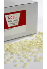 Cacao Noel Noel - Ivoire Pate a Glacer, white chocolate buttons - 11 lb, NOE642