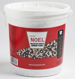 Cacao Noel Noel - Dark and White Chocolate Pearls - 2.2lb, NOE977