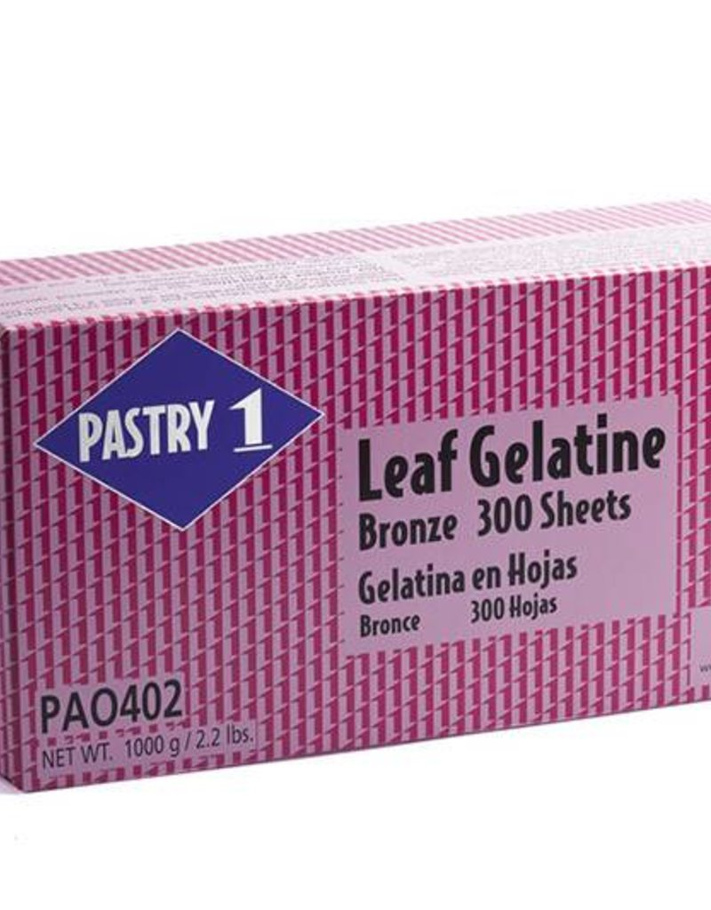 Pastry 1 Pastry 1 - Bronze Gelatin sheets (300ct), PA0402