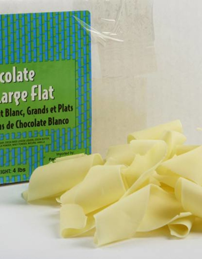 Pastry 1 Pastry 1 - White Chocolate Flat Shavings, Large - 4lb, PA3512