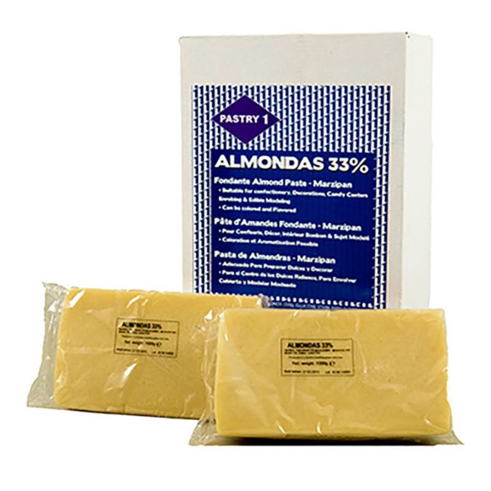 Pastry 1 Pastry 1 - Almond paste 33% - 2.2lb, PA4631