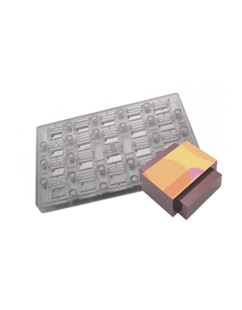 Fat Daddios Fat Daddios - Magnetic mold, Deco Rectangle (20 cavity), PCMM-06