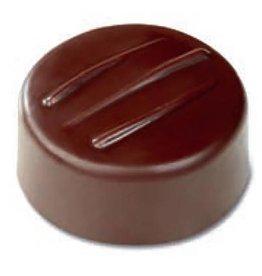 Pavoni Pavoni - Artisanal Polycarbonate Chocolate Mold, Round - fork, PC101