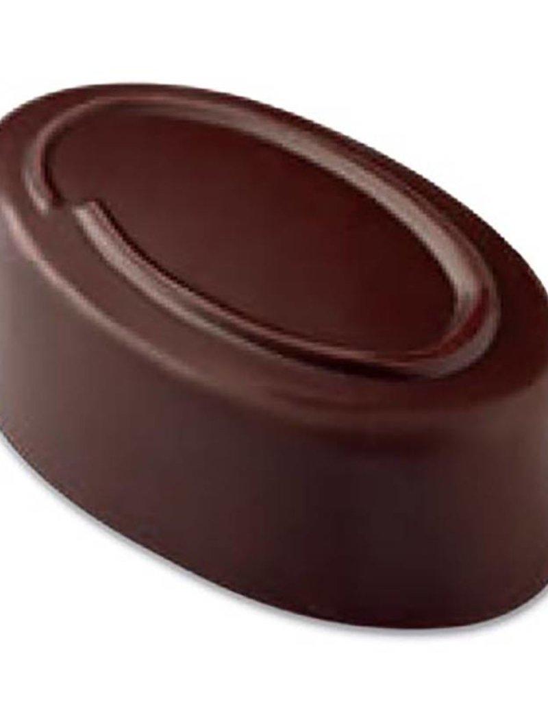 Pavoni Pavoni - Artisanal Polycarbonate Chocolate Mold, Oval - line, PC109