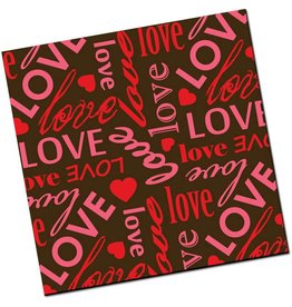 Chocobutter Chocobutter - Cocoa butter transfer, Love Letters, Red/Fuchsia (10 sheets)