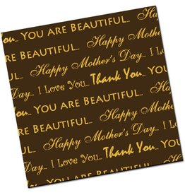 Chocobutter Chocobutter - Cocoa butter transfer, Happy Mothers Day, Gold (10 sheets)