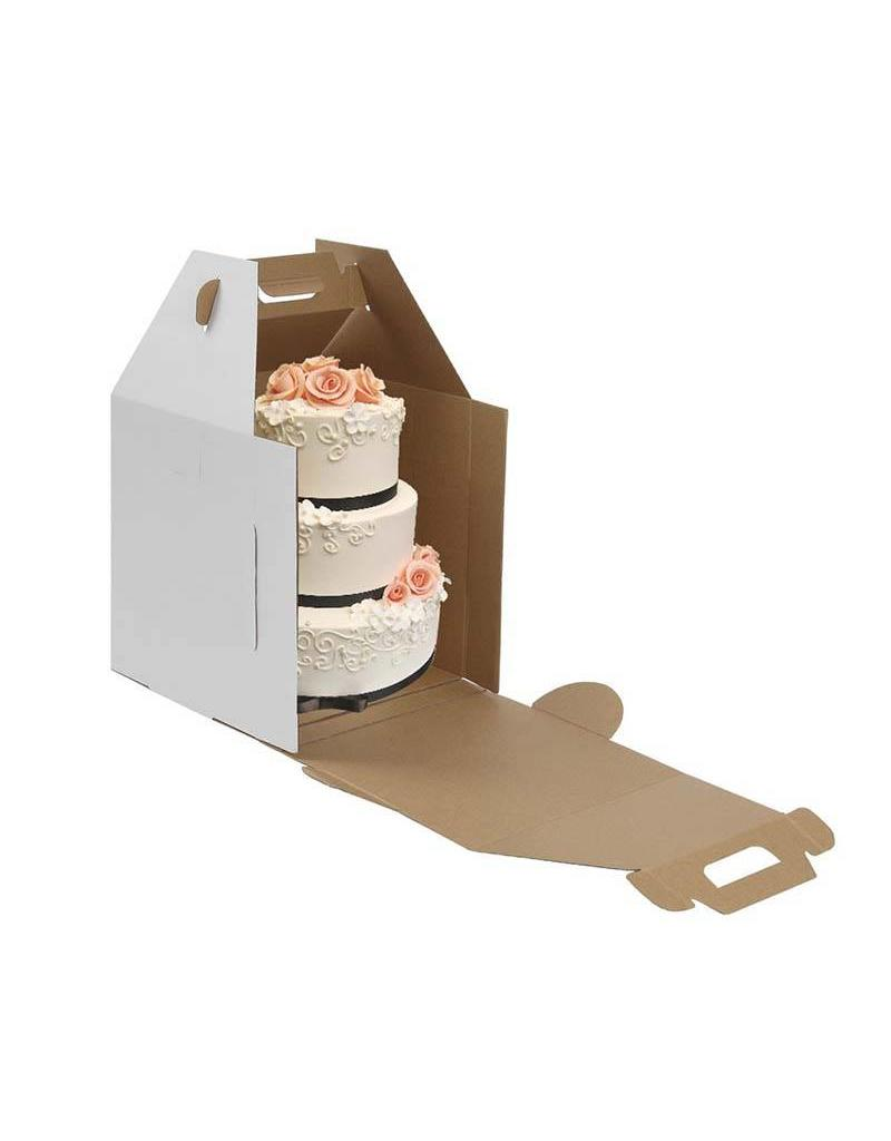 Whalen Whalen - Cake box - Corrugated w/window - 16x16x18''