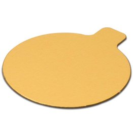 Enjay Enjay - Mono board - round, Gold and Black reversible - 3.25'' (500ct), 045-314RTGB