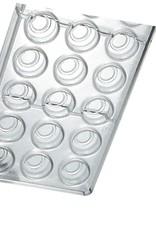 Pavoni Pavoni - Artisanal Polycarbonate Chocolate Mold, Round - line, PC100