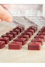 Pavoni Pavoni - Artisanal Polycarbonate Chocolate Mold, Square - point, PC104