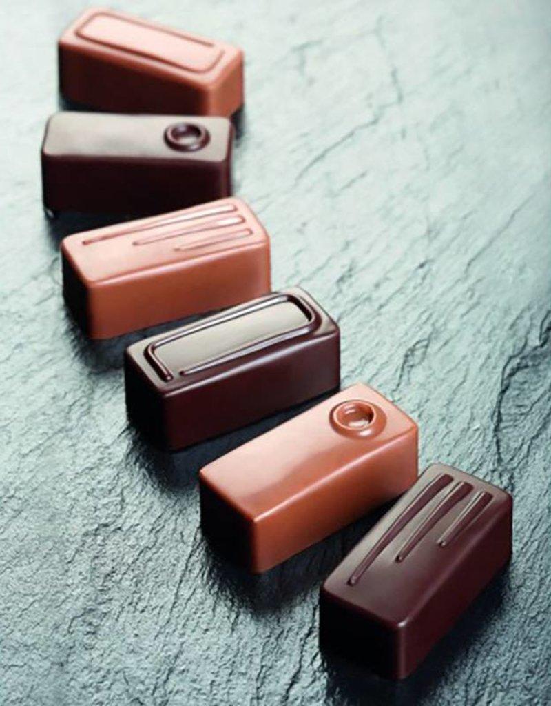 Pavoni Pavoni - Artisanal Polycarbonate Chocolate Mold, Rectangle - fork, PC107