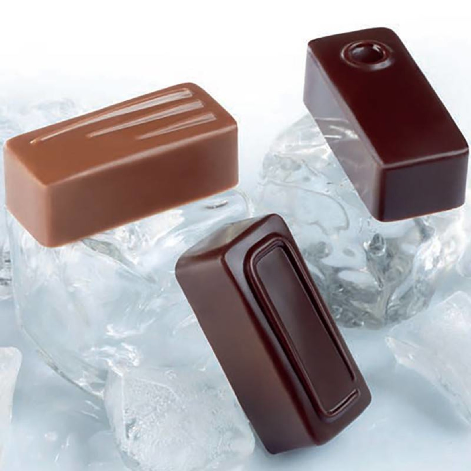 Pavoni Pavoni - Artisanal Polycarbonate Chocolate Mold, Rectangle - Point, PC108