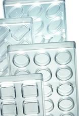 Pavoni Pavoni - Artisanal Polycarbonate Chocolate Mold, Square - smooth, PC112