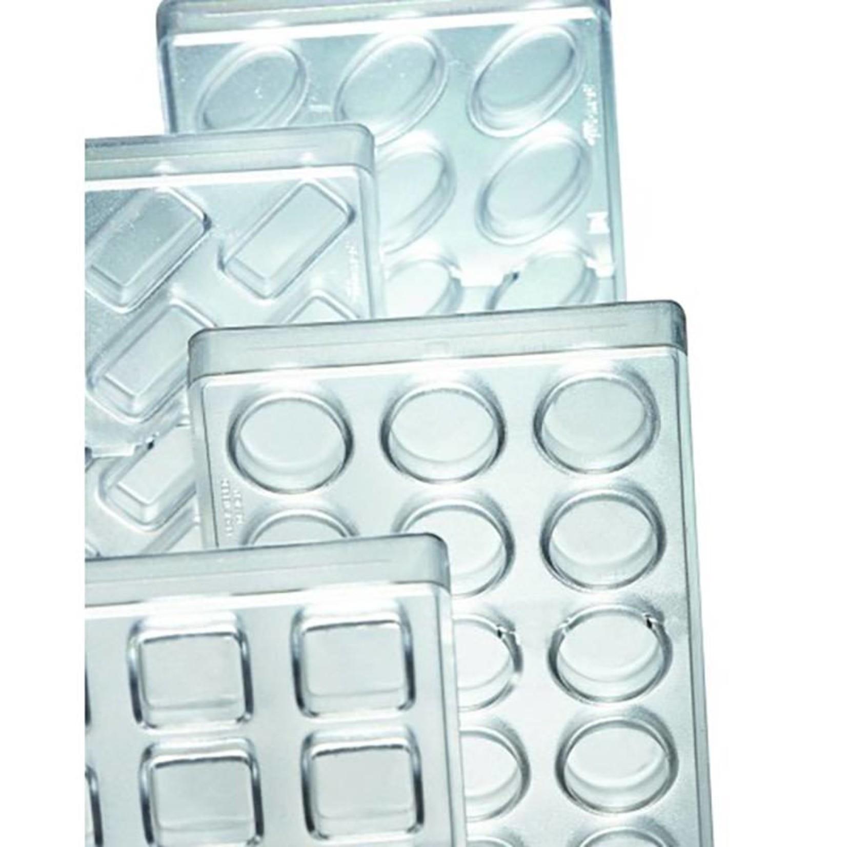 Pavoni Pavoni - Artisanal Polycarbonate Chocolate Mold, Rectangle - Smooth, PC114