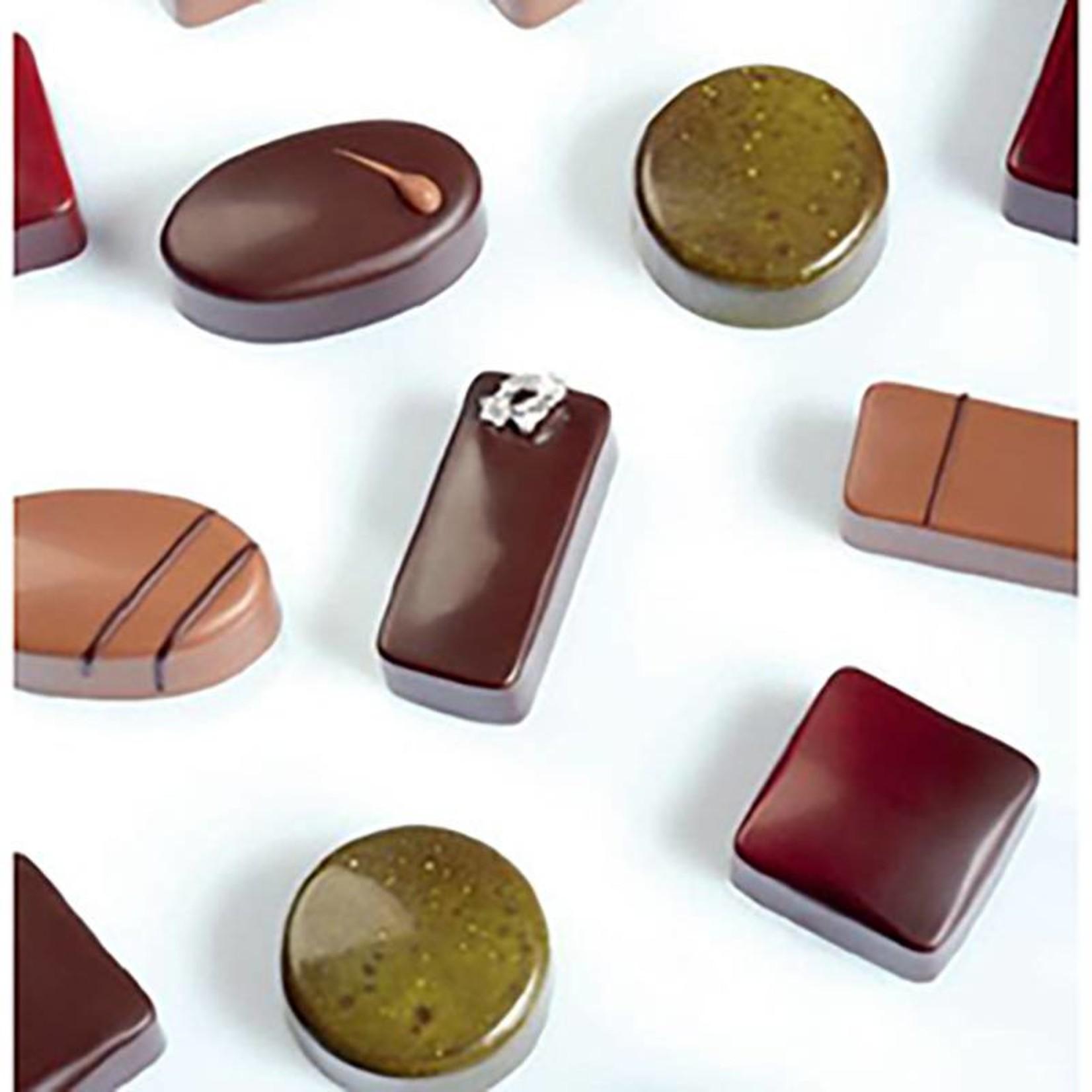 Pavoni Pavoni - Artisanal Polycarbonate Chocolate Mold, Oval - Smooth, PC115