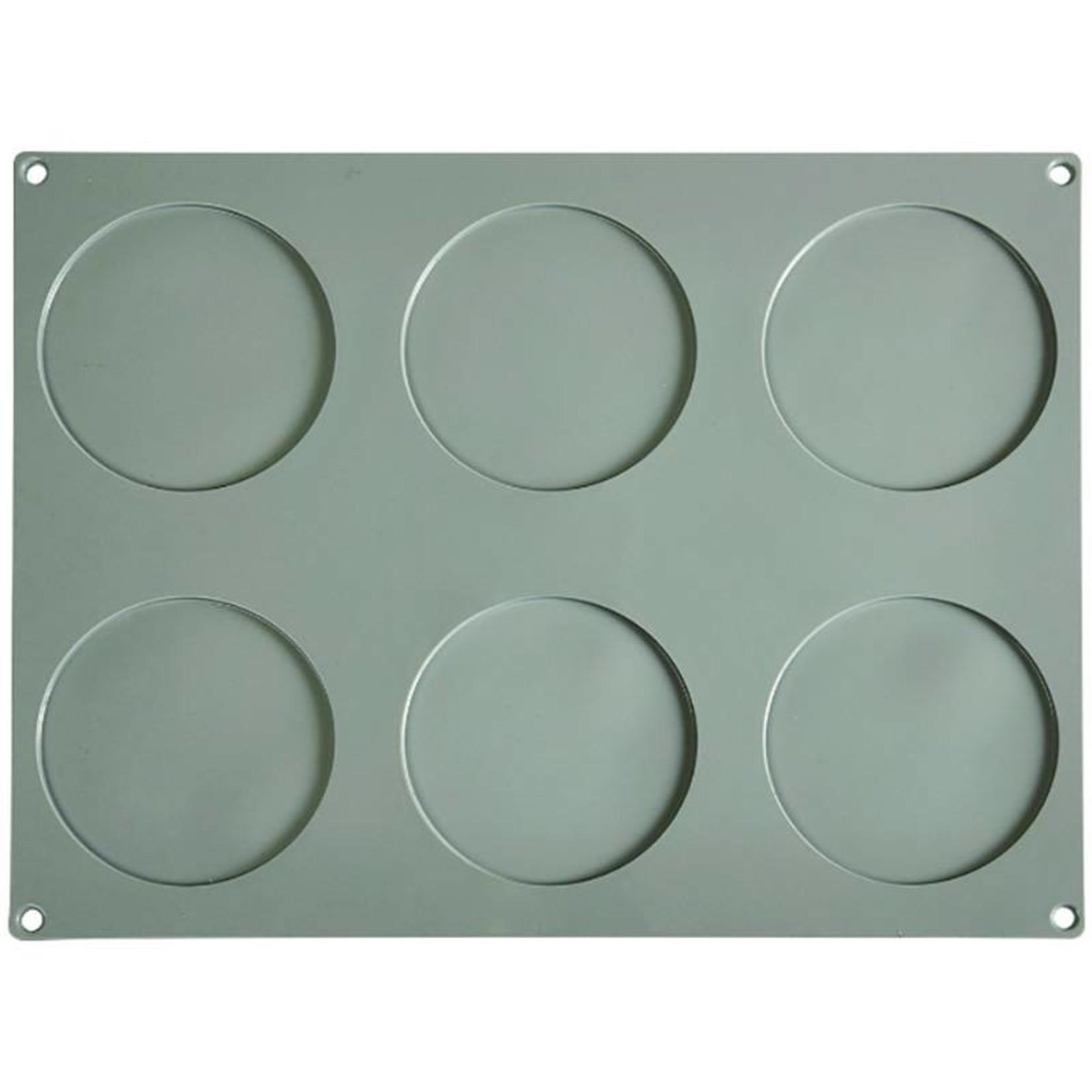 Pavoni Pavoni - Gourmand silicone mold, Disco Grande (6 cavity), GG003